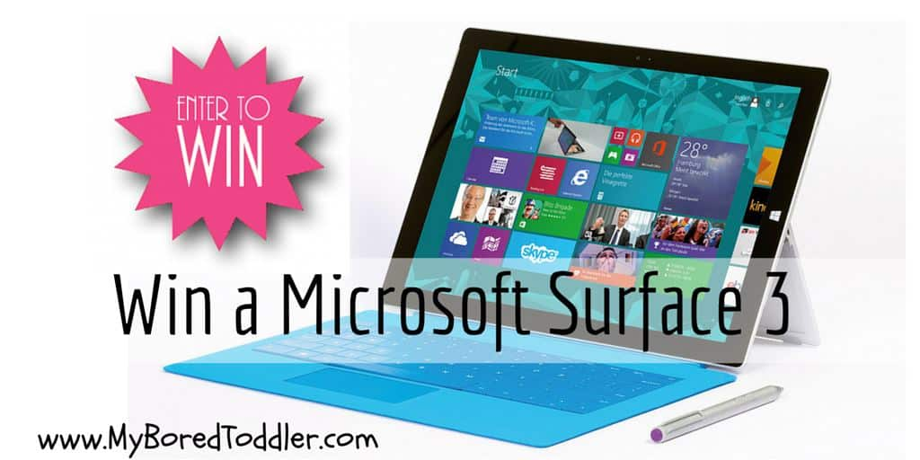 Win a Microsoft Surface 3 laptop
