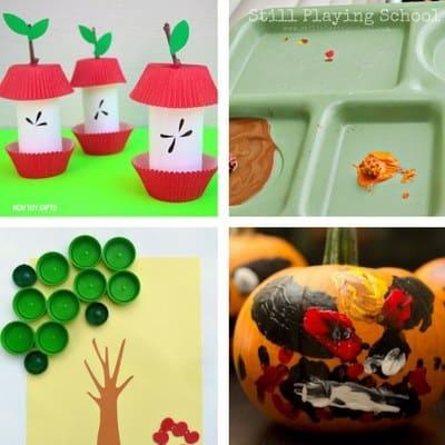 autumn fall toddler crafts