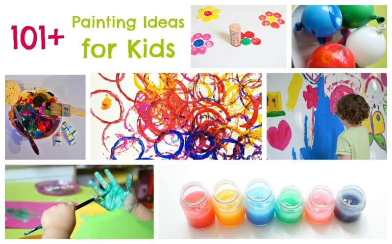 Toddler Painting Ideas – Paint-a-thon