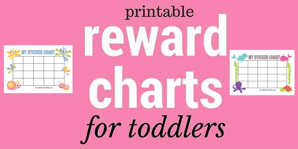 printable reward charts for toddlers