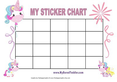 UNICORN PRINTABLE REWARD CHART FOR TODDLERS
