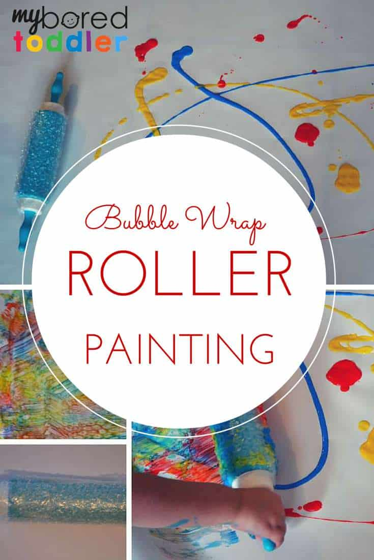 Bubble wrap roller painting pinterest