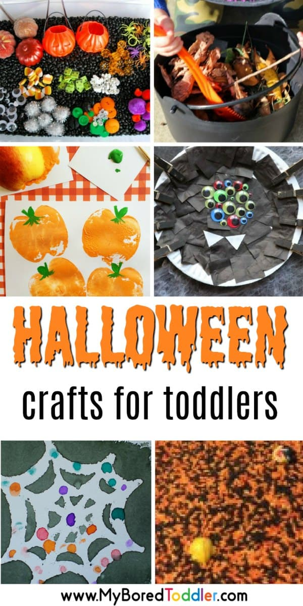 Halloween crafts for toddlers. Activities and crafts for 1, 2 and 3 year olds