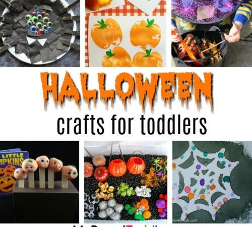 Halloween crafts for toddlers square