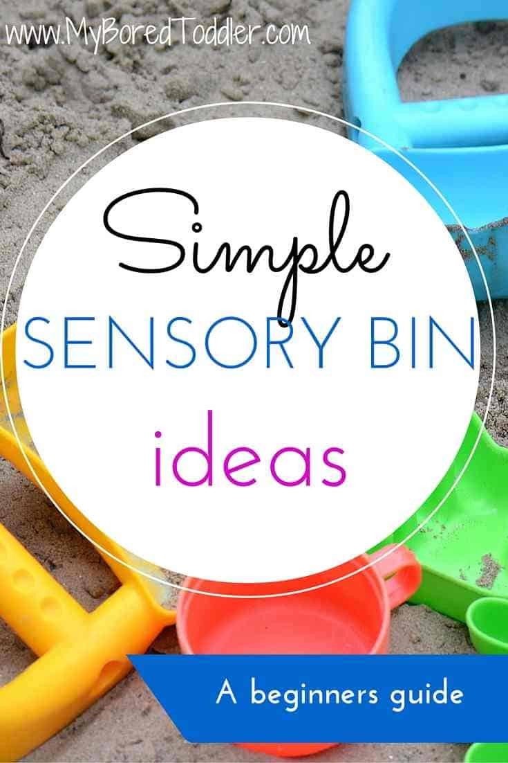 simple sensory bin ideas pinterest