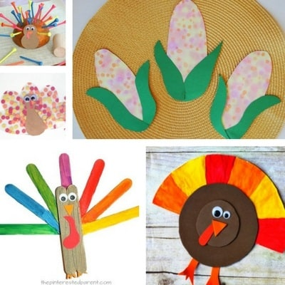 Thanksgiving crafts for toddlers feature
