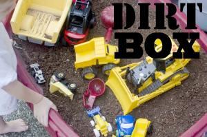 summer activities toddler dirt box