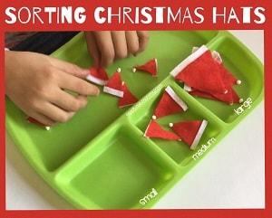 Christmas hat sorting