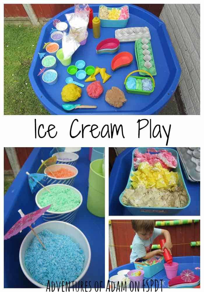 summer toddler activities ice cream play