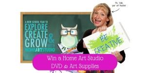 Win an Art Studio DVD & Art Supplies