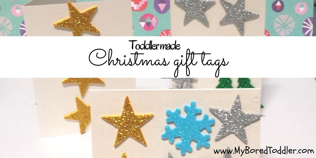Christmas craft for toddlers – gift tags