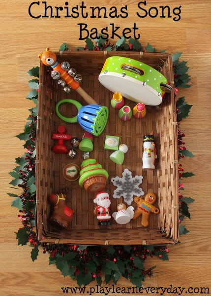 christmas song basket