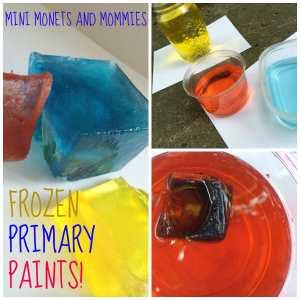 summer activities toddler frozen paints