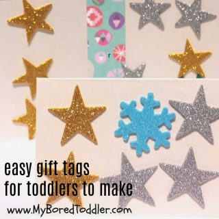 easy gift tags for toddlers to make