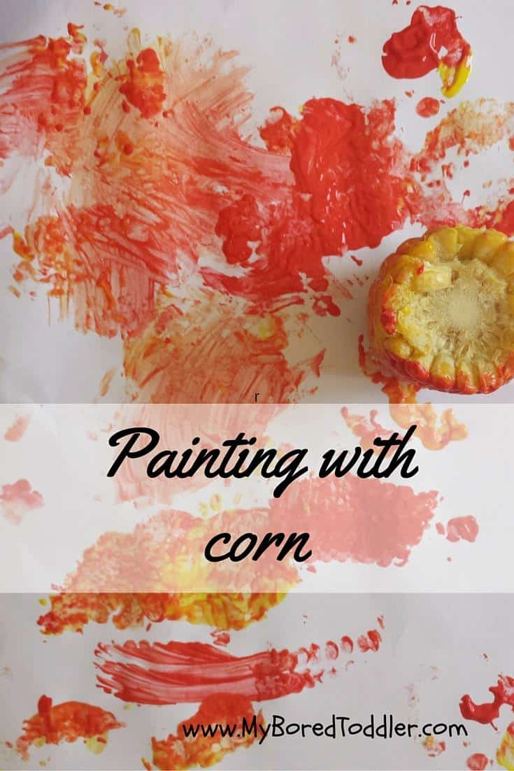 thanksgiving craft for toddlers painting with corn