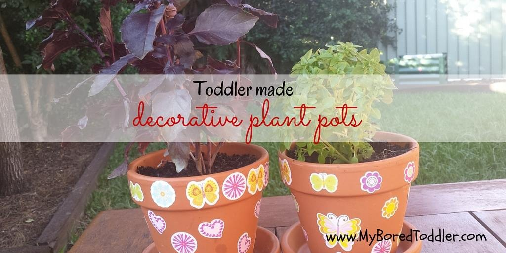 Toddler made gifts – decorative plant pot