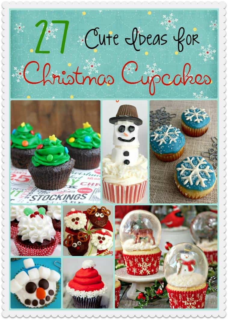 27 cute ideas for Christmas cupcakes