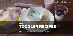 5 Toddler Recipes featuring Goat Yoghurt