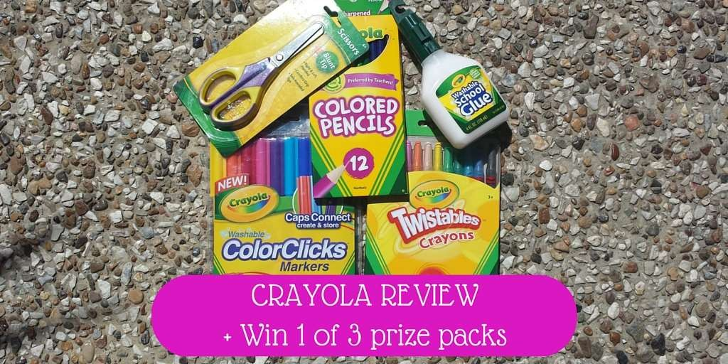Crayola Review + Win 1 of 3 prize packs