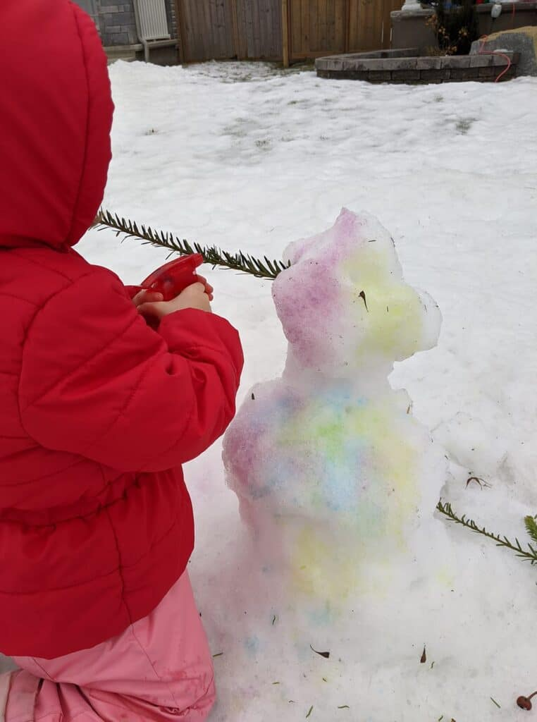 snow man painting activity