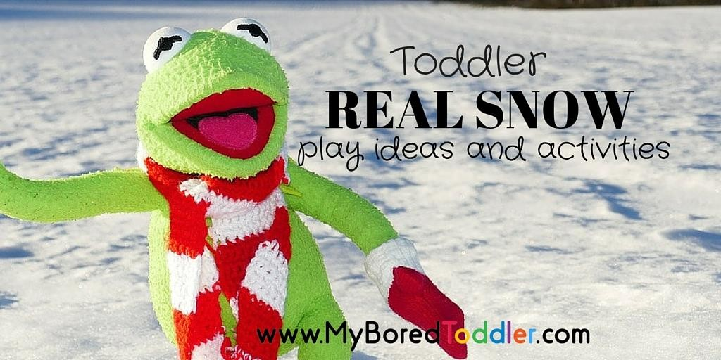 Real Snow Activities for Toddlers