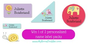 Win a Name Label Pack from Stick 2 Me