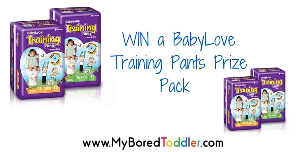 BabyLove training pants review and giveaway