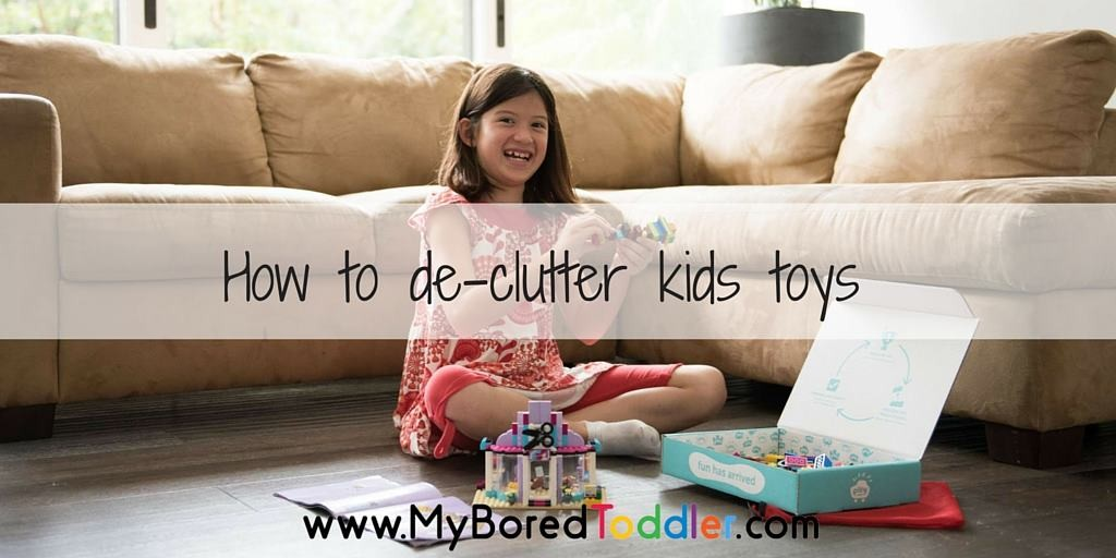 How to declutter kids toys