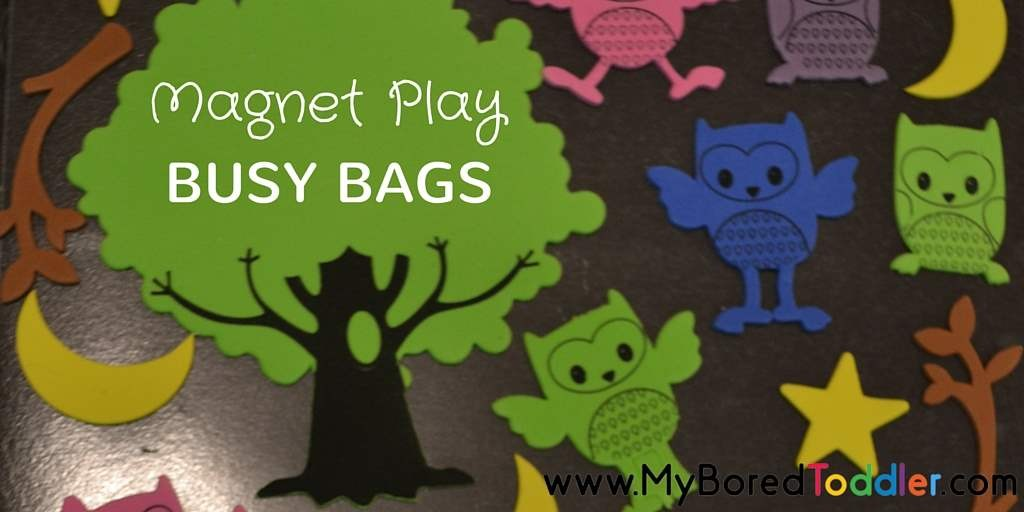 Toddler Busy Bags – Magnet Board Fun!