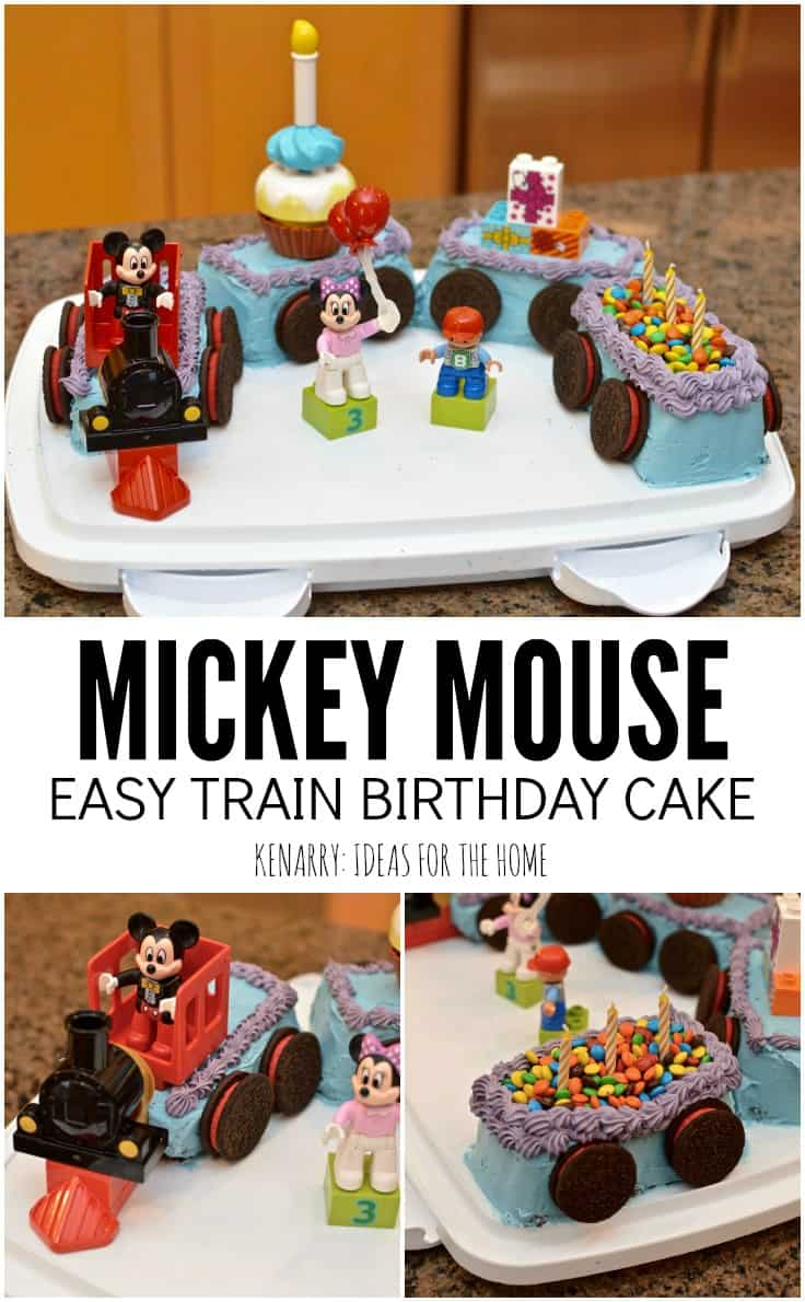 Mickey Mouse Lego Train Birthday Cake My Bored Toddler