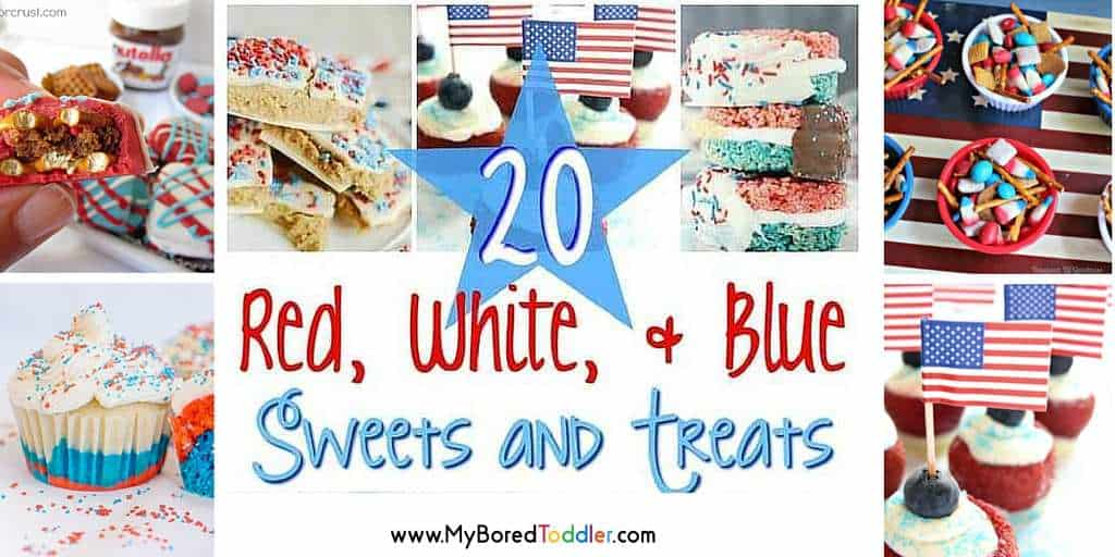 red white and blue sweets and treats feature