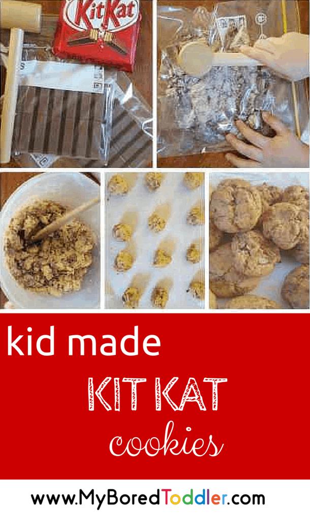 Kit Kat Cookie Recipe pinterest