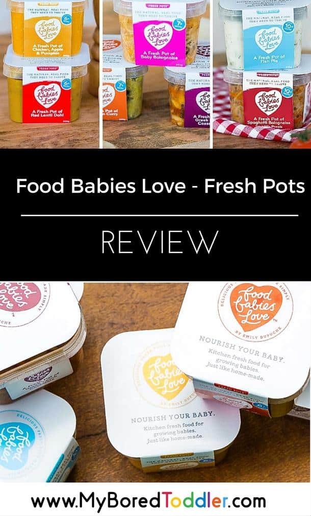 food babies love fresh pots toddler food review pinterest