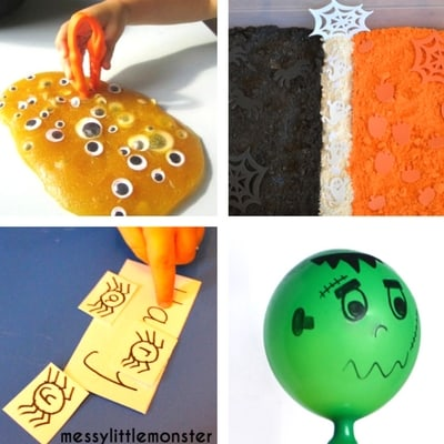 Halloween Sensory Play for toddlers