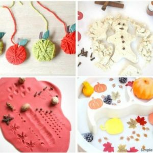 autumn and fall sensory play for toddlers
