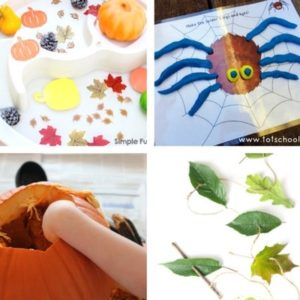 autumn and fall sensory play for toddlers image 12