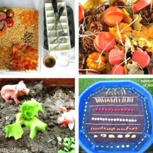 autumn and fall sensory play for toddlers image 3