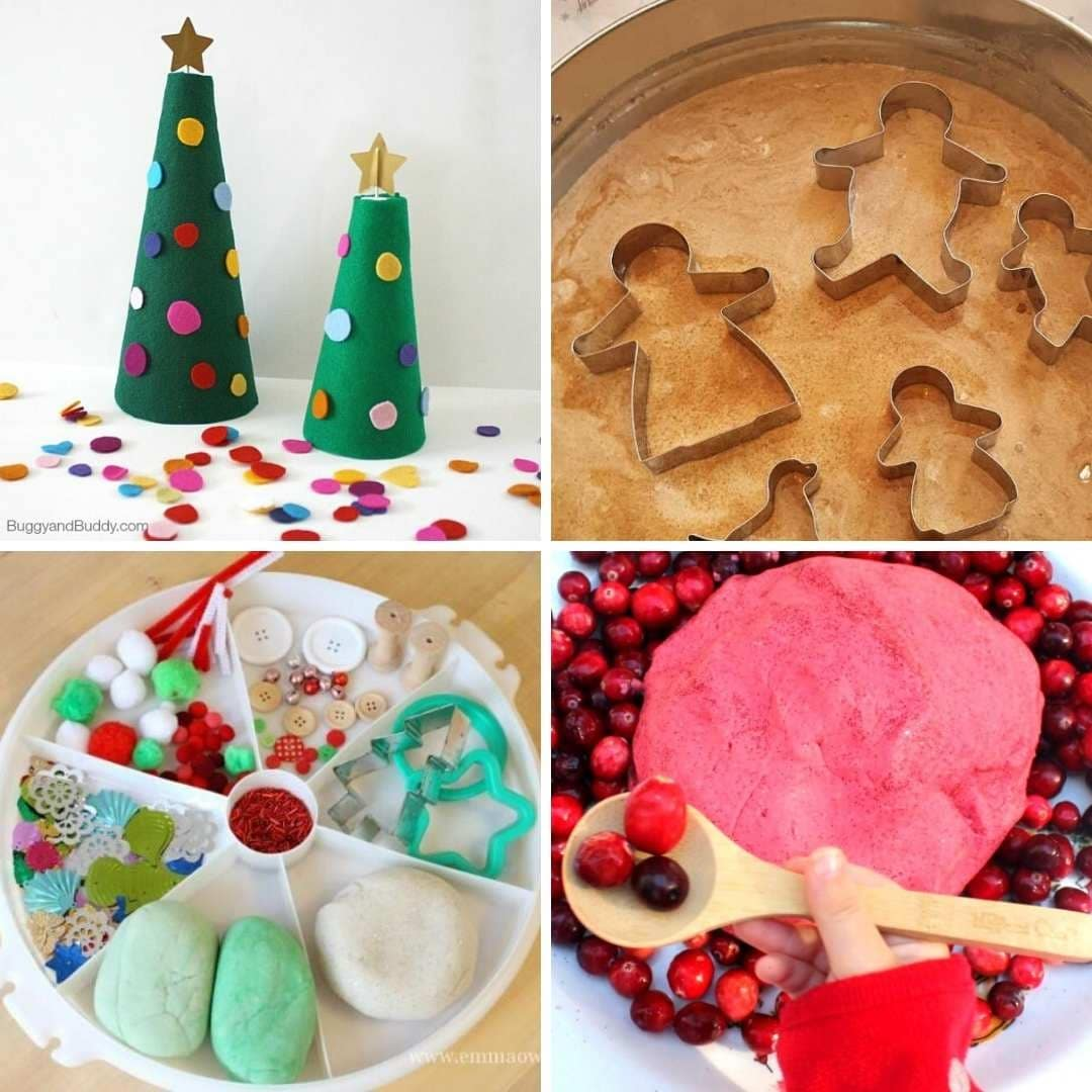 4 Christmas xmas sensory fun and sensory play for toddlers 2 3 4 year olds