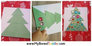 Toddler Made Christmas Tree Card