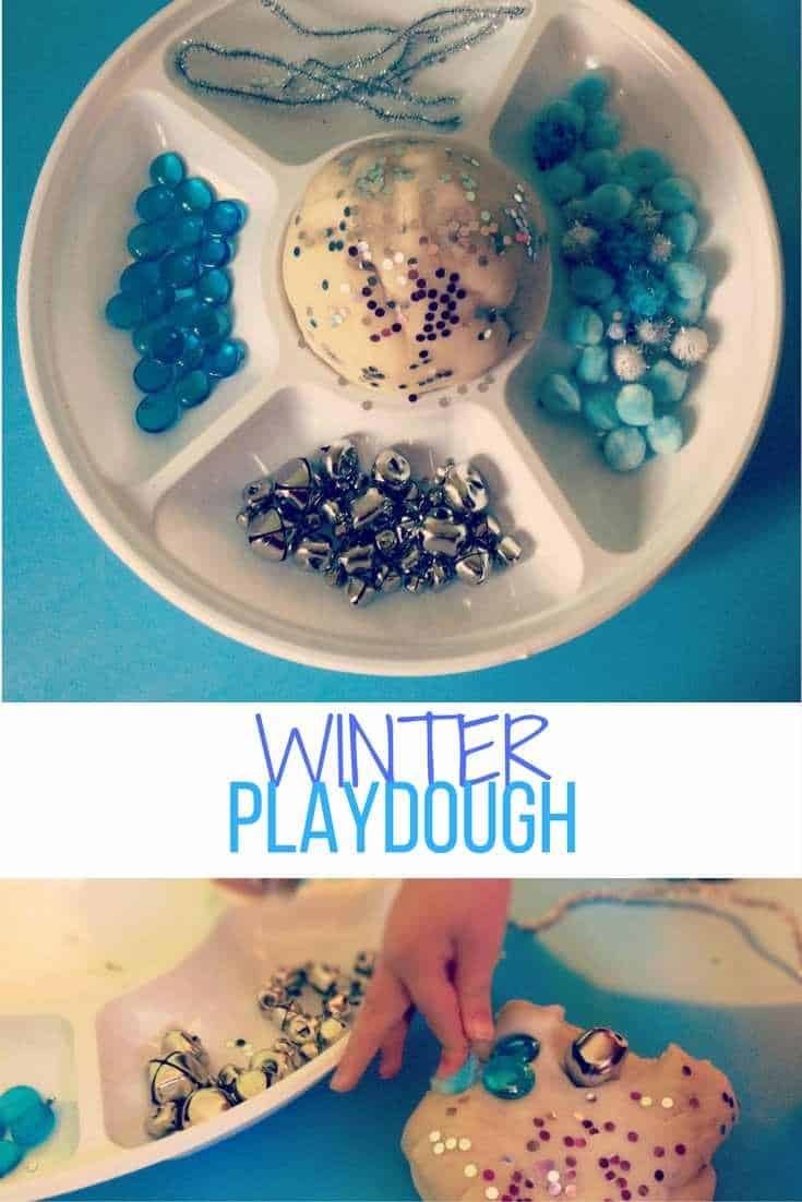 winter playdough invitation to play