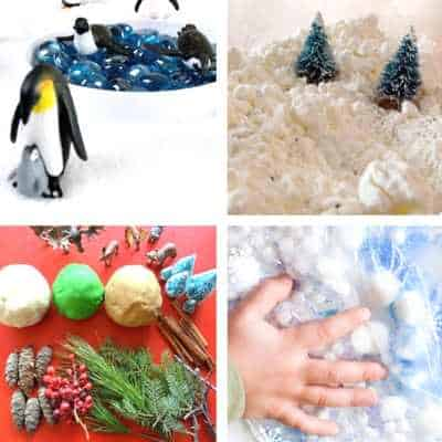 winter sensory play ideas and activities for toddlers