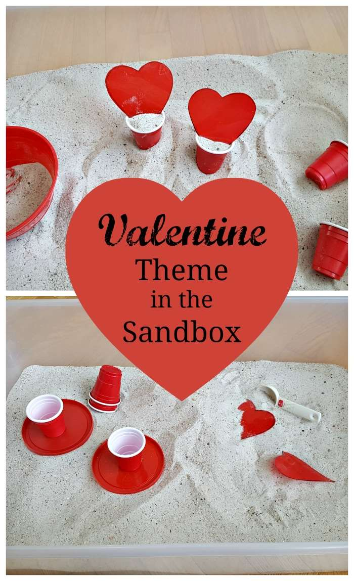 Valentine's Day Indoor Sandbox for Toddlers