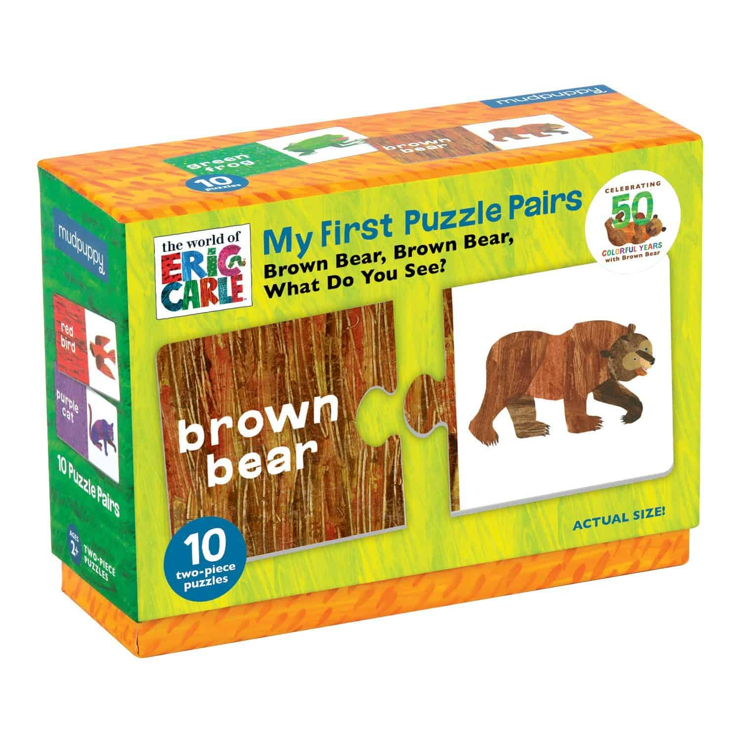 brown bear brown bear puzzle color matching toddlers