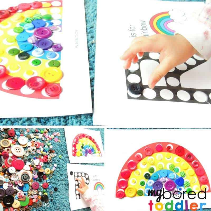 do a dot rainbow printable for toddlers