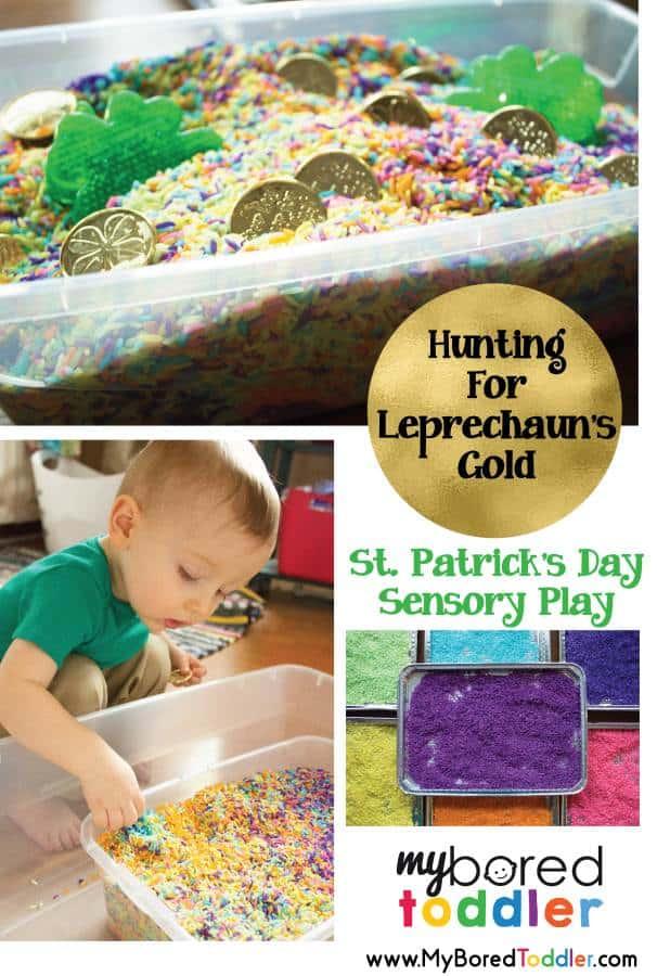 leprechaun sensory play st patricks day activity for toddlers
