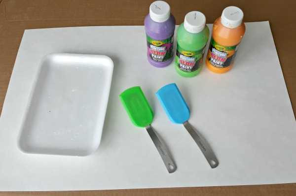 painting with spatulas process art for toddlers materials.