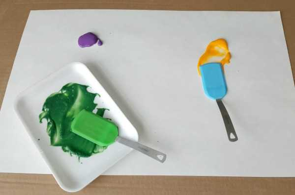 spatula painting art activity