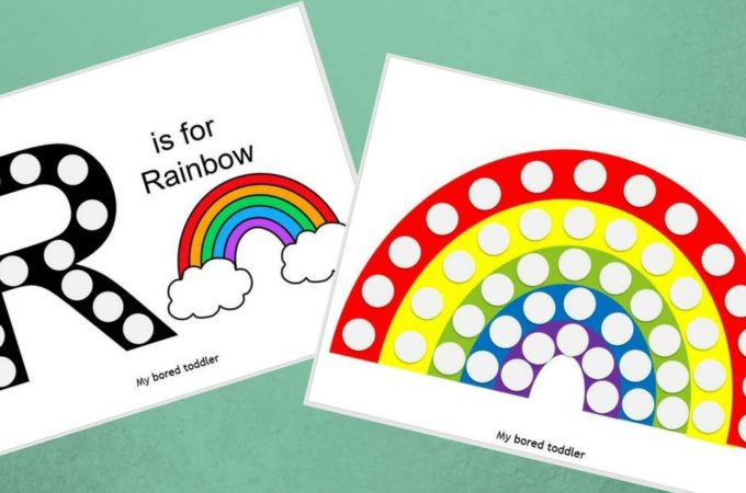 Free Printable Do-a-Dot Rainbow Activity