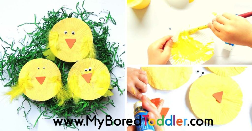 Easter Chick Craft for Toddlers