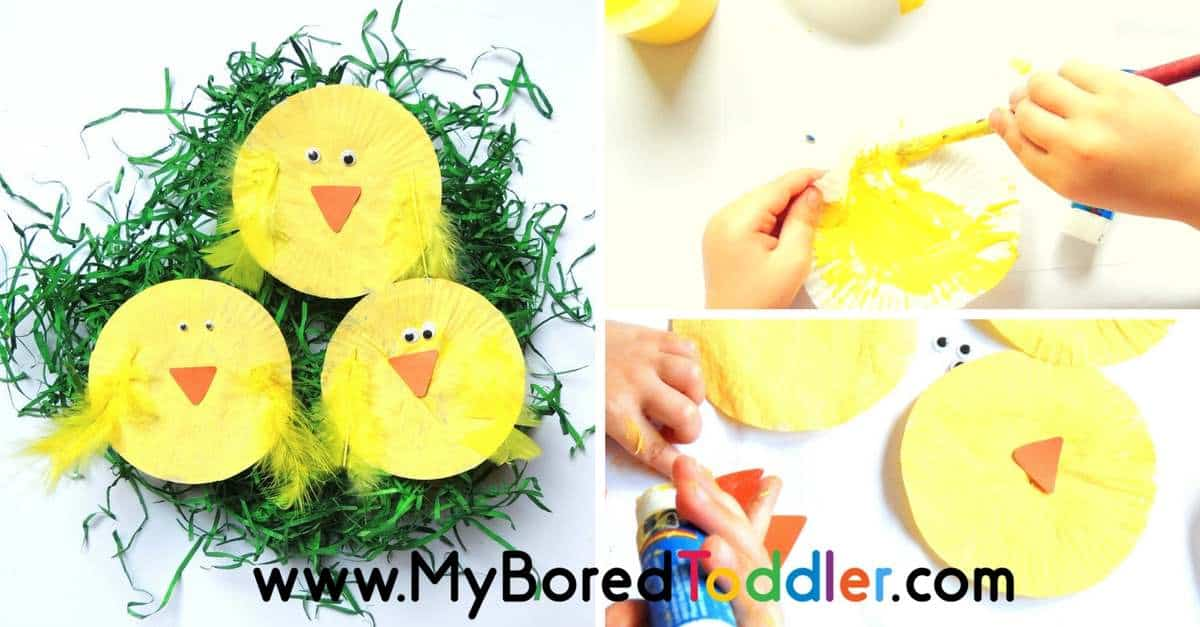Paper Plate Easter Chick Craft For Toddlers My Bored Toddler